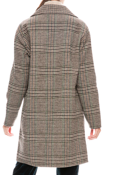 Maryline Plaid Coat