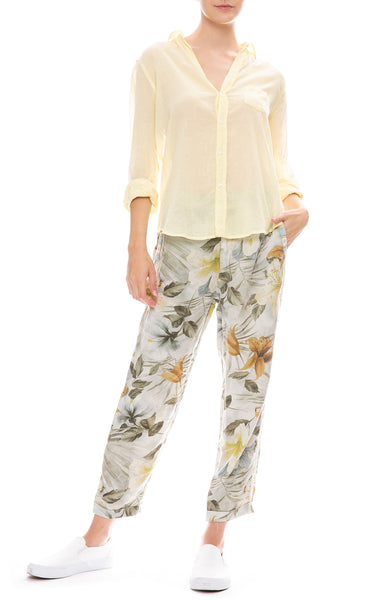 Floral Pull On Pants