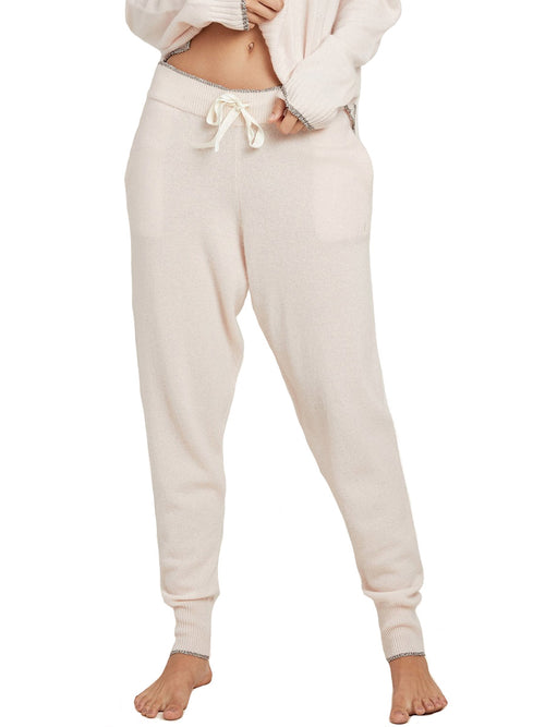 Hailey Metallic Trim Cashmere Pants