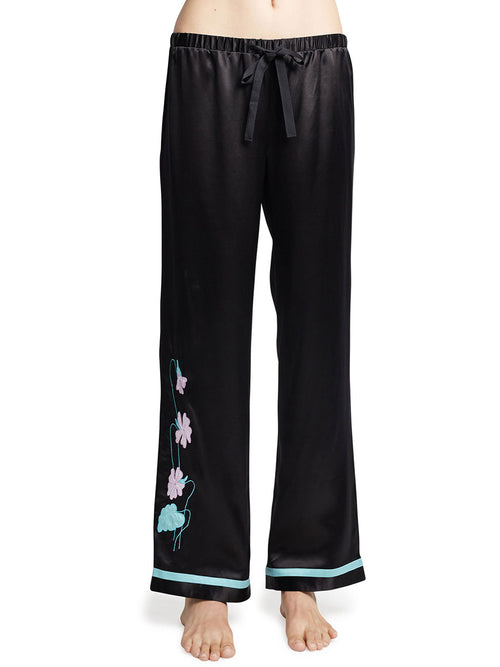 Harlin Secret Garden Silk PJ Pant