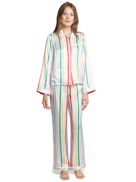 Ruthie Candy Stripe Silk Top