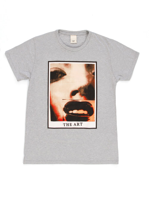 Square Lady Face Art Tee