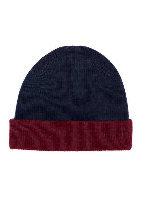 Alex Mill Cashmere Reversible Beanie in Navy at Ron Herman