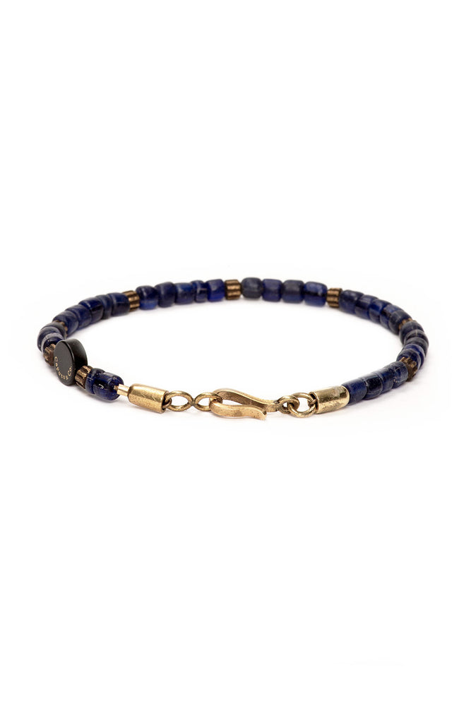 Caputo & Co Dark Navy Recycled Glass Bead Bracelet at Ron Herman