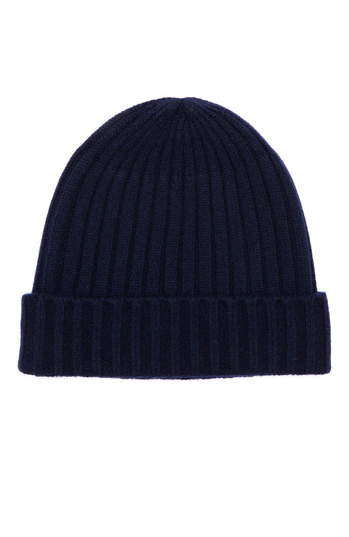 Hartford Mens Cashmere Blend Knit Beanie in Navy at Ron Herman