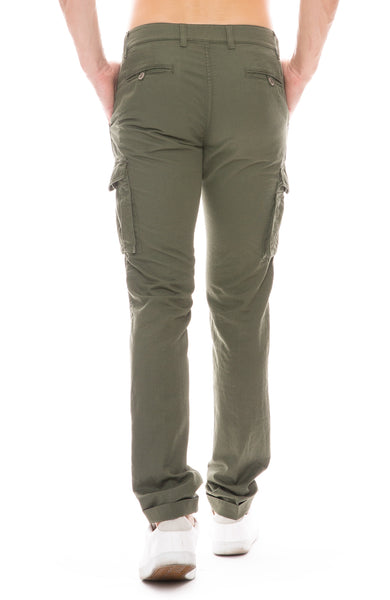 Cotton Linen Cargo Pants
