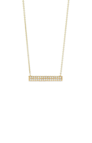 Full Pave Diamond Roll Necklace