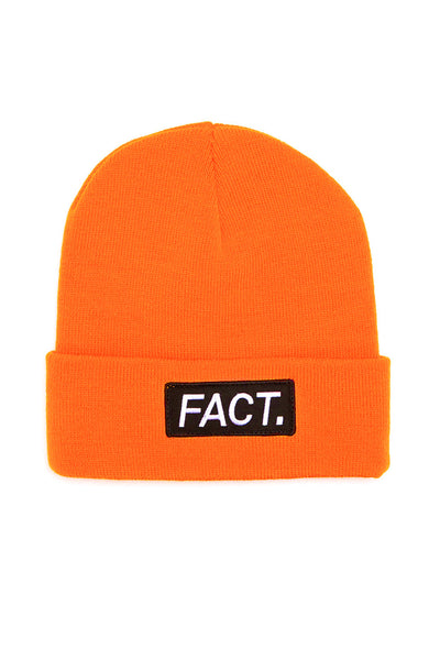 Fact. Logo Beanie in Neon Orange at Ron Herman
