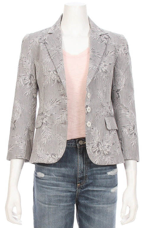 Ron Herman Exclusive Palm Print Schoolboy Blazer ON SALE at Ron Herman