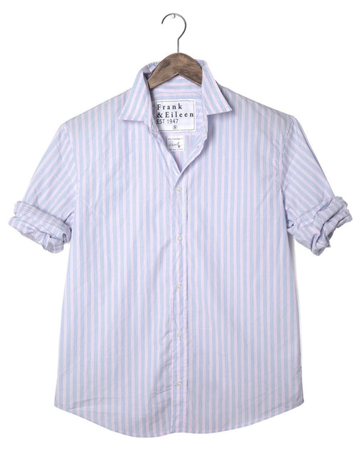 Mens Paul Italian Poplin Multi Stripe Shirt