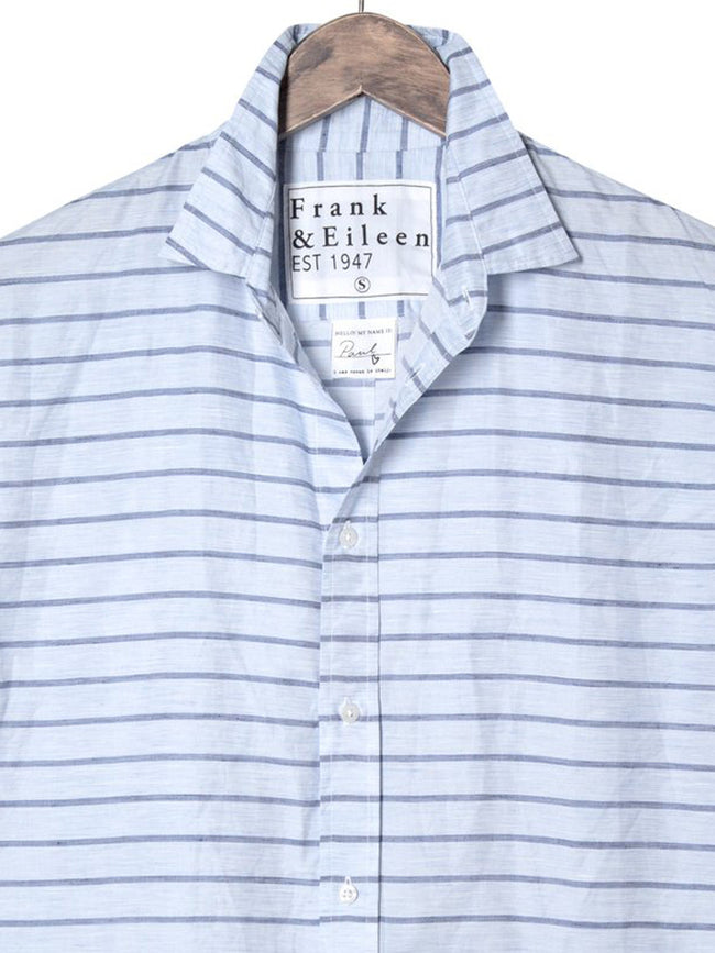 Mens Paul Italian Poplin Horizontal Stripe Shirt