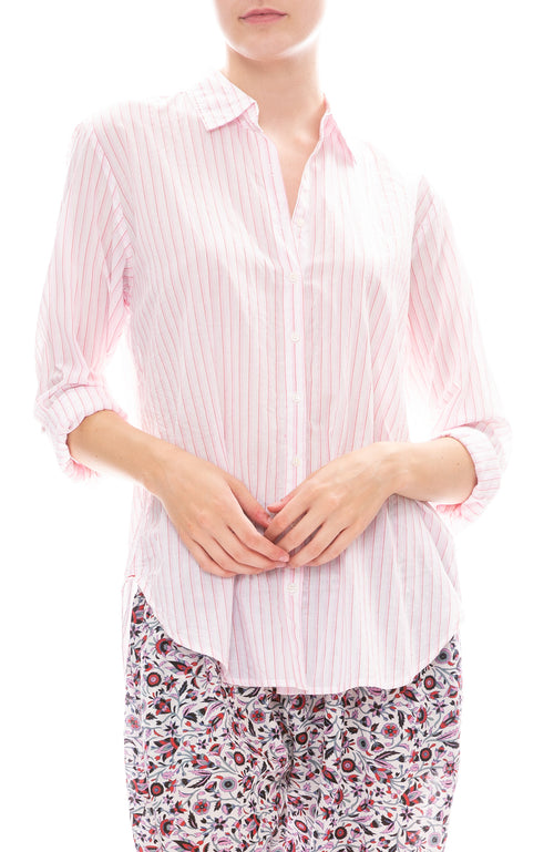 Xirena Beau Striped Shirt in Pinque