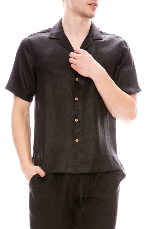 Camp Collar Silk Shirt