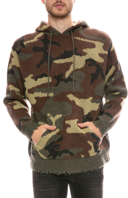 Camouflage Cashmere Hoodie