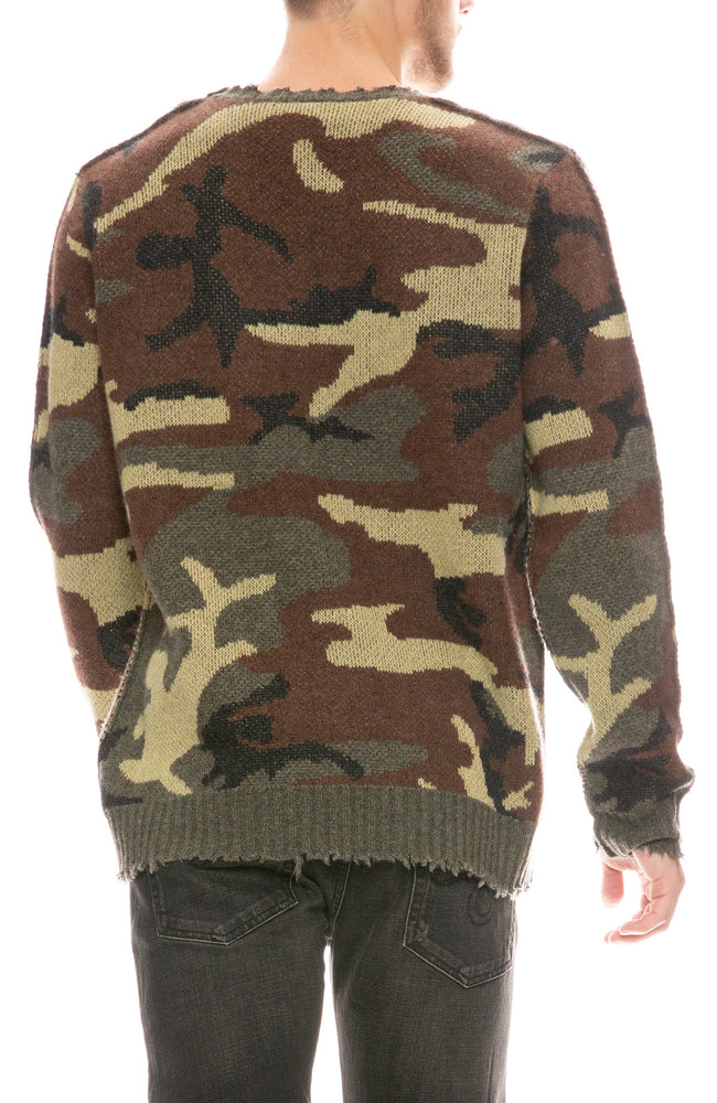 Leopard Camouflage Cashmere Sweater