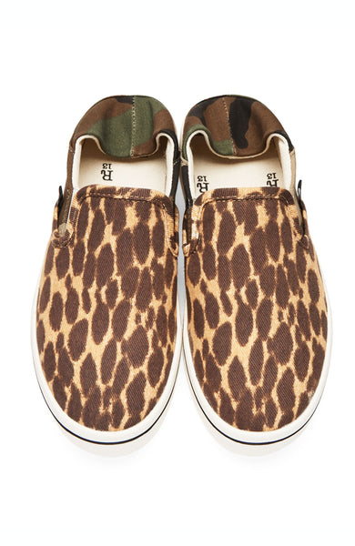 Camo Cheetah Slip On Sneakers