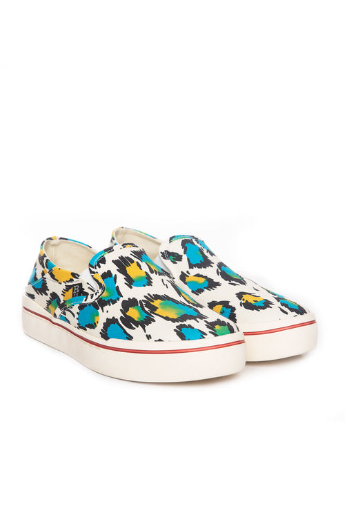 Colorful Leopard Slip on Sneaker