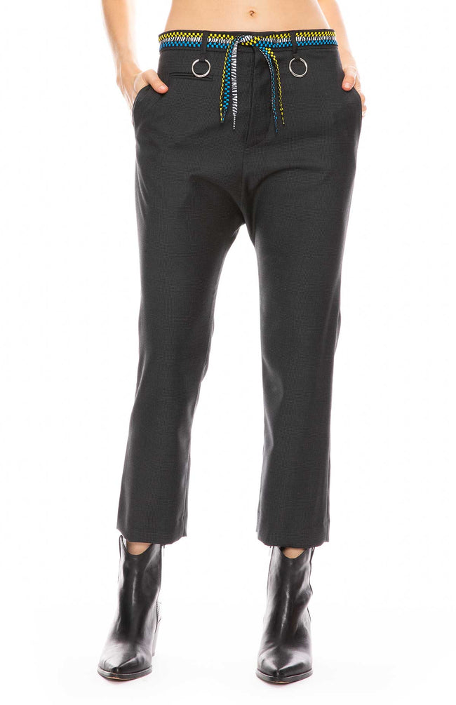 Tailored Trouser with Shoelace Belt