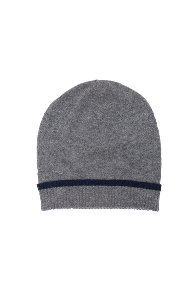Exclusive Cashmere Beanie with Tipping