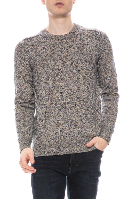 Melange Knit Crew Neck Sweater