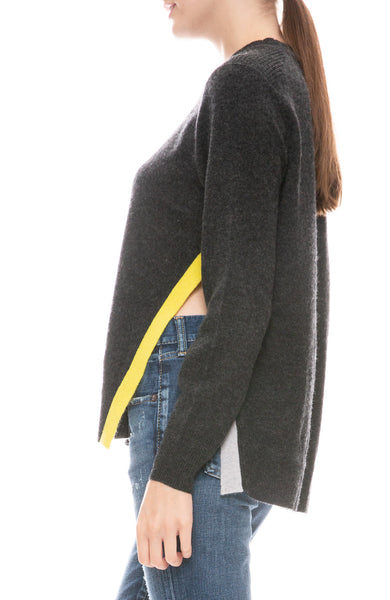 Split Colorblock Hem Sweater