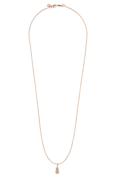 Sydney Evan 14K Rose Gold Pave Diamond Pineapple Necklace at Ron Herman