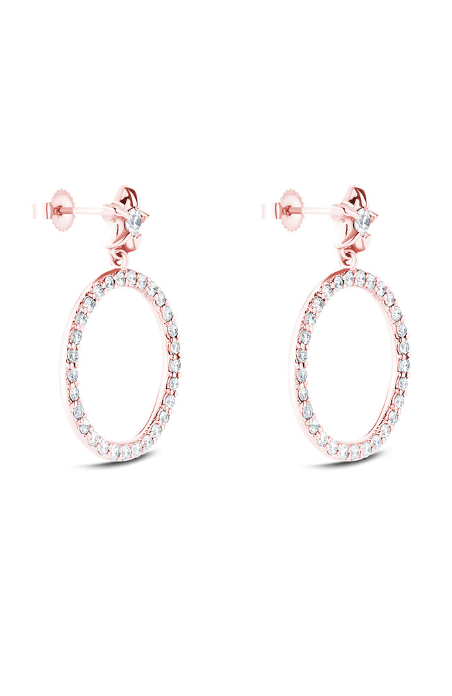 Carbon & Hyde Rose Gold Full Moon Diamond Earrings