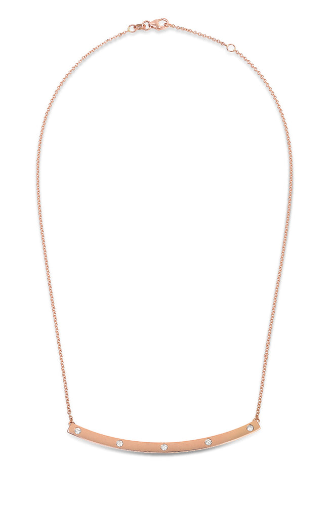 Carbon & Hyde High Five Bar Necklace