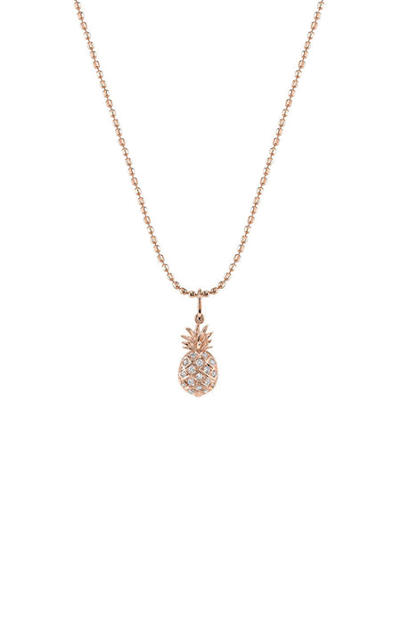 Pavé Diamond Pineapple Charm Necklace