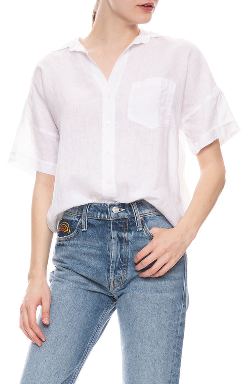 Rose Short Sleeve Linen Shirt