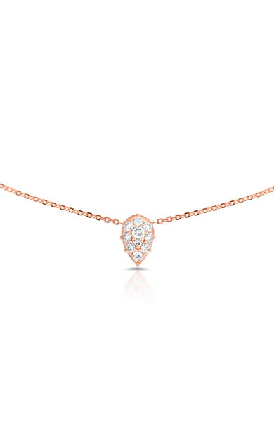Carbon & Hyde 14K Rose Gold Venus Choker Necklace with Diamond Pear Shape Charm at Ron Herman