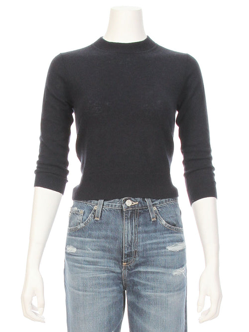 Open Tie Back Crop Sweater