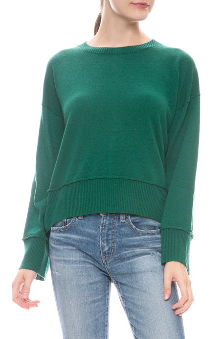 Boxy Snap Side Sweater