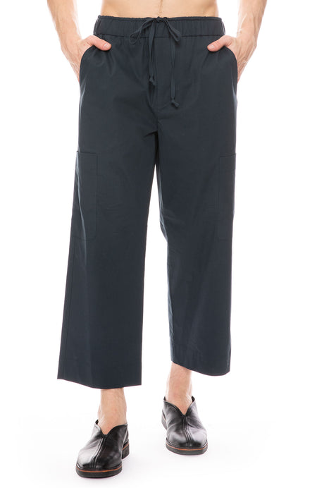 Washed Poplin Cropped Pant