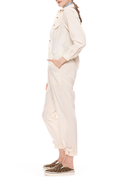 Lou Jumpsuit in Ivory