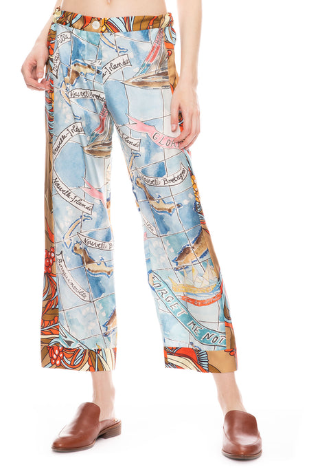 Riviera Pant in Forget Me Not