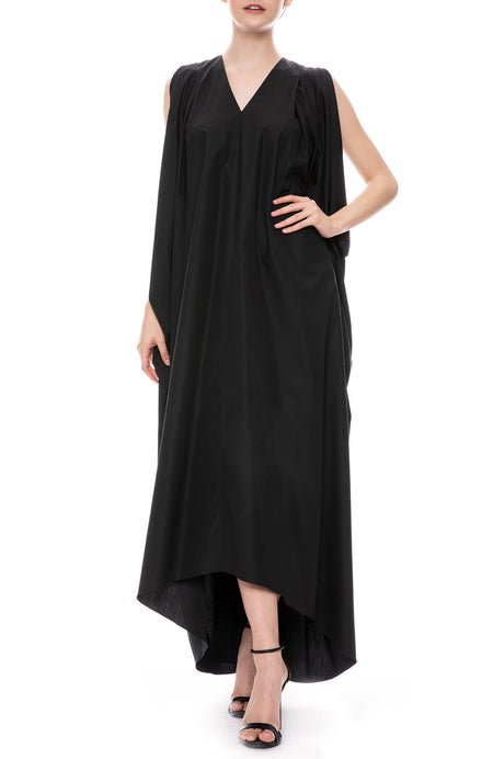V-Neck Draped Dress Exclusive