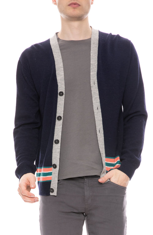 Striped Hem Cardigan