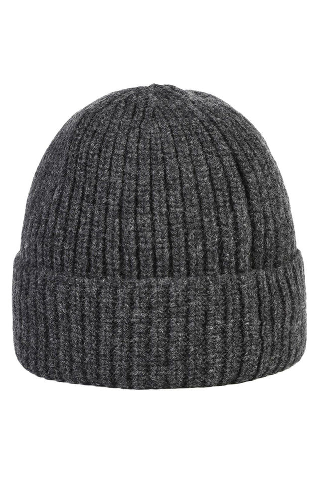 Stone Island Rib Knit Beanie in Steel Gray at Ron Herman