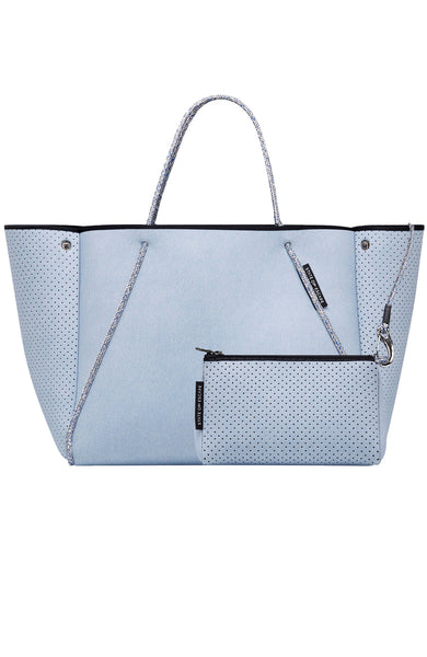 State of Escape Denim Guise Carryall in Superfade Denim