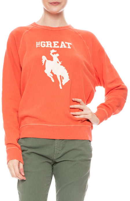 College Sweatshirt with Cowgirl Graphic