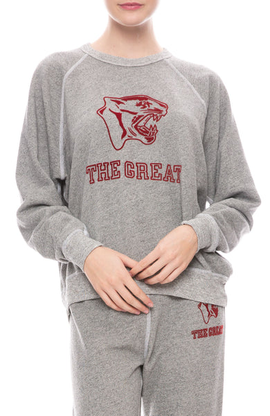 College Sweatshirt With Jaguar Graphic