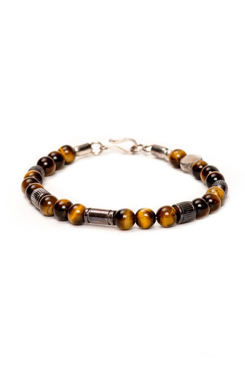 Caputo & Co. Tiger Eye Prosperity Bead Bracelet at Ron Herman