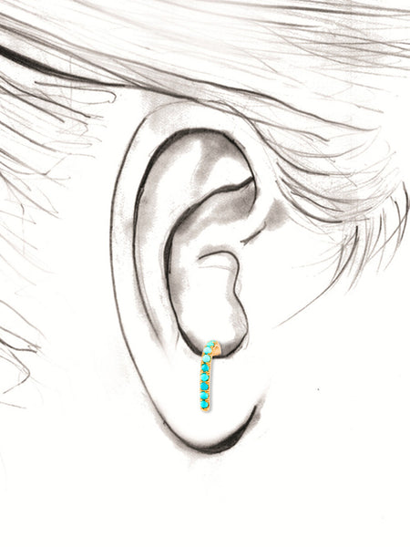 Turquoise Suspender Earring
