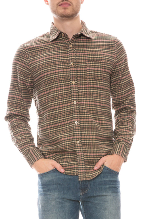 Twill Plaid Button Down Shirt