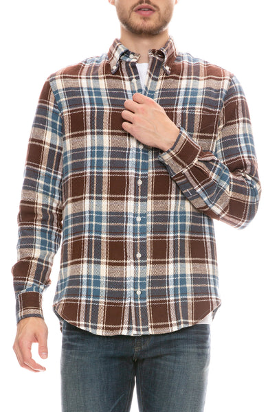 Washington Brushed Triple Yarn Plaid Shirt