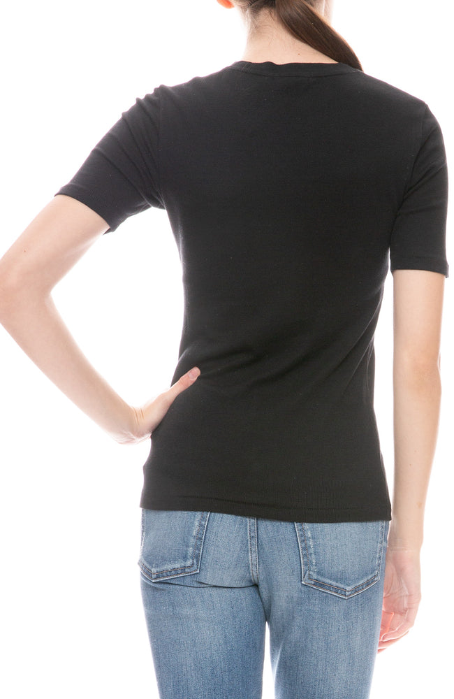 Kari Ribbed Slim Tee