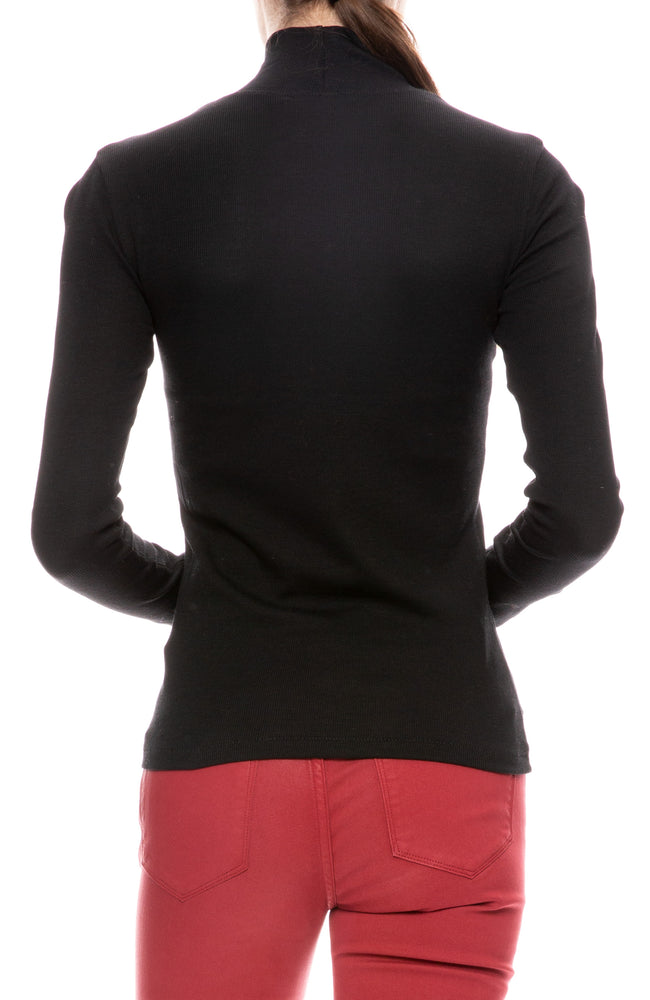 Kari Ribbed T Neck Top