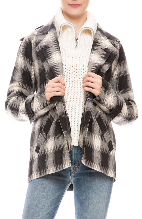 Nikki Cotton Plaid Jacket
