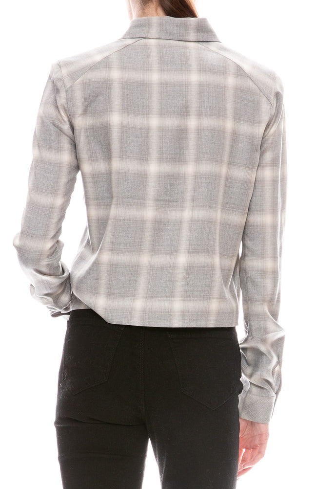 Maxine Cropped Plaid Shirt